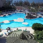 pool view from room 422