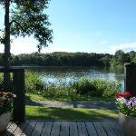 Looking across Pearl Lake