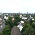 Blick über Krefeld vom Zimmer aus