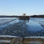 Merrimac Ferry going through ice 12-2011