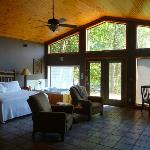 Comfortable Cabin - great view, jacuzzi, & fireplace