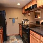 Remodeled kitchen with full size appliances, fully stocked