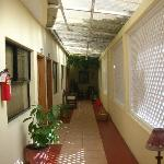 Corridor outside the room