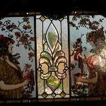Breakfast room stained glass window