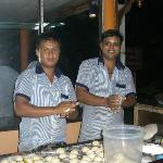 Staff making roti