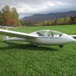 2 passenger glider at Sugarbush Soaring - pilot and 1 passenger