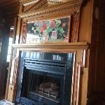 Beautiful fireplace in common area Inn on Summerhill