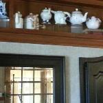 Dining room displays teapot collection