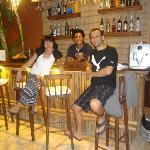 en el bar con Franc