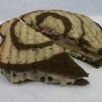 Roxy~Smoked Turkey, Roast Beef, Swiss, Creamy Slaw, Russian Dressing on Marble Rye