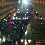 view from elevator to lobby
