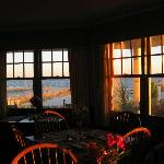 Sunset from dining room