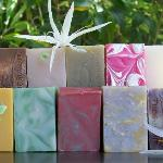 Selection of handmade soap from The Summit Vanuatu.