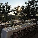 Wedding dinner on Petrolo terrasse