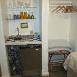 Fridge/closet area