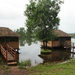 river huts