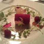 Fois gras terrine med variation af hindbær