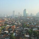 Morning view from hotel's front-view room - Santika Pandegiling