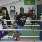 Muay Thai sparring wit a trainer from thailand in cobra-gym