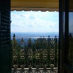 Il balcone della camera con vista sulla cupola del Brunelleschi