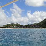 view of Galley Bay from the sea