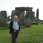 My husband at Stonehenge.