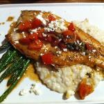trout with risotto. excellent!