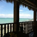 View from the ocean front restaurant