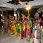 Balinese avond in het hotel.