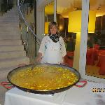 Marina with another tasty dish (Paella)