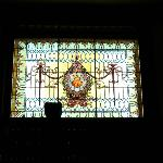 stained glass window in old union station Montgomery