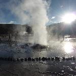 Parque Geotermico Geisers do Tatio , 5:30 a.m. a menos 9 graus