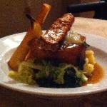 Slow roasted pork belly at the Byre