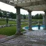 view of side yard from the terrace