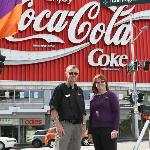 Coca-Cola sign with Nick