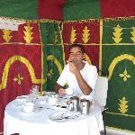 Desayuno en la terraza del Riad Aguaviva