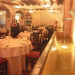 l'ex abbeveratoio ora fontana nel ristorante