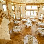 The inside of the Wedding Barn