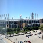 view from our room. you can't be any closer to the ballpark.