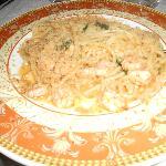 Spaghetti alla chitarra con gamberi e mollica