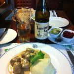Great swedish meatballs with a good swedish beer
