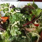 the salad with Oka cheese