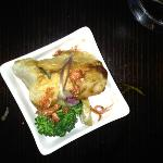 Fish deep fried in rice paper with ginger