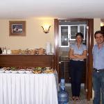 Welcoming hotel staff