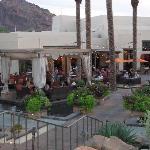 Camelback outdoor area for happy hour
