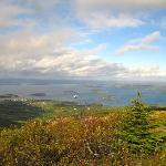 View over Bar Harbor from Mt Champlain