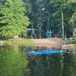 Swimming beach and playground