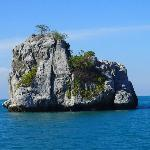 Big Rock Island in the ocean