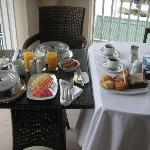Wonderful breakfast served on the balcony of our room