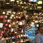 A colorful collection of pretty lamps and lights.